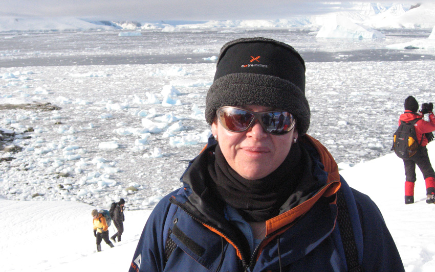 Joanne Cornish Consultant on expedition to Antartica